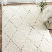 nuLoom 菱格纹淡黄色摩洛哥地毯