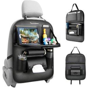$22.99(原价$32.99)Tsumbay 多功能汽车后座收纳袋 防脏防踢垫 可折叠 带托盘