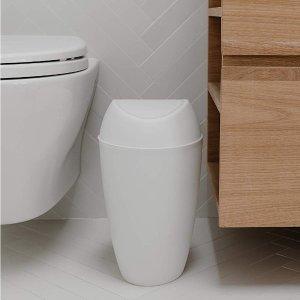 $11.97(原价$20.03)史低价:Umbra Twirla 9升容量摇摆盖垃圾桶 两色可选