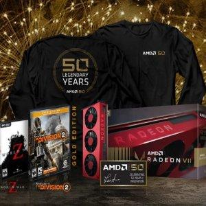 $699AMD Radeon VII 50周年 金装限定款,限美加用户