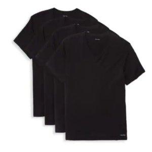 $19.99Calvin Klein 男款打底V领T恤四件套特卖