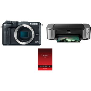 Canon EOS M6 微单机身 + Canon Pro-100 无线照片打印机