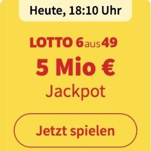 周三/六开奖  6次机会仅€1Lotto 6aus49 奖金累计500万欧元 无需身份验证 快试试运气