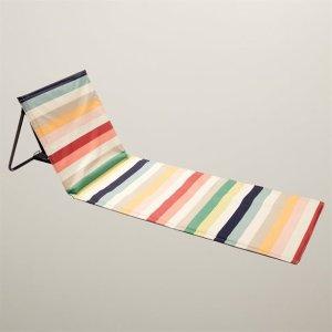 条纹折叠躺椅
