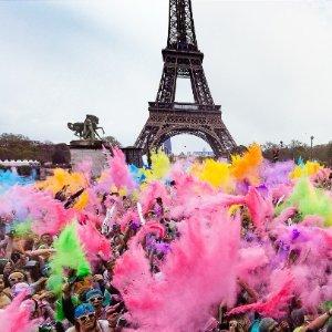 3月29周日开跑 儿童免费The Color Run 国民彩虹跑 三月重返法国 史上最欢脱跑步派对