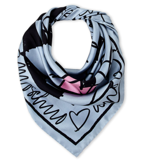 $59Moschino Heart Silk Scarf @ Century 21