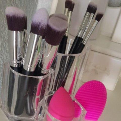 仅€8.07 法亚3万+好评BEAKEY 化妆刷12件套 妆刷+美妆蛋+清洁工具一整套齐全