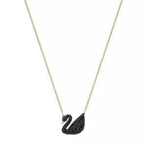 Swarovski 黑天鹅项链