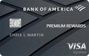 50,000 bonus points offer - a $500 valueBank of America® Premium Rewards® credit card