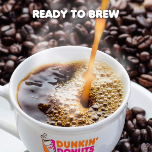 $3.31 包邮Dunkin' Donuts 中度烘焙咖啡粉 11 oz 装 焦糖蛋糕口味