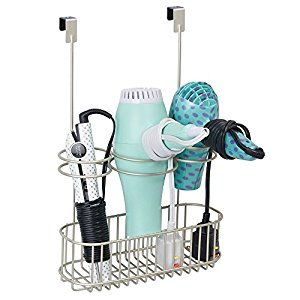 mDesign Over-Cabinet Hair Care Tools Holder for Hair Dryer