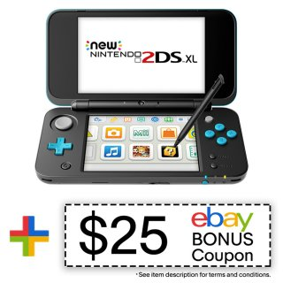 $99.99 再送 $25 eBay 返现New Nintendo 2DS XL 黑色翻新款