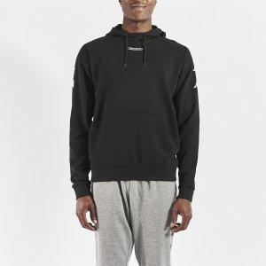 KappaKortus black sweatshirt for men