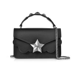 Les Jeunes EtoilesBlack Leather Vega Mini Shoulder Bag