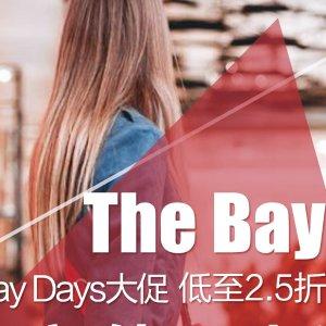 低至2.5折折扣升级:The bay 现有Bay Days 全场大促销 收Champion T恤