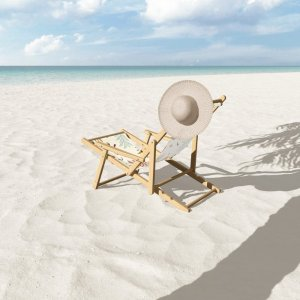 Society6Leaf Shapes Pattern Sling Chair by knstartstudio