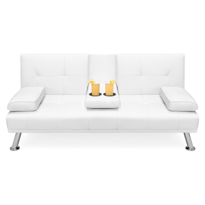 Fine Best Choice Products Tufted Faux Leather Futon Sofa 187 99 Ncnpc Chair Design For Home Ncnpcorg