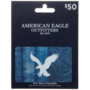 $39.5 (原价$50)闪购:价值$50的American Eagle Outfitters 礼卡