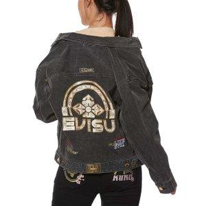 Evisu满4件享额外7.5折Kamon logo牛仔外套