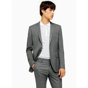 Topman2 Piece Grey Super Skinny Fit Suit With Notch Lapels
