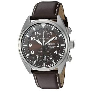 $98.24(原价$218.4)Seiko 男士棕色时装腕表 - 型号SNN241