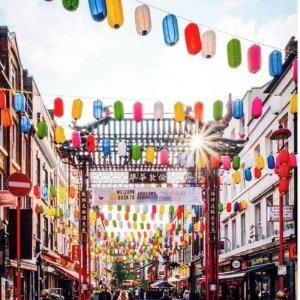 抽奖赢£50代金券伦敦中国城金秋十月 线上写祝福赢吃喝玩乐基金