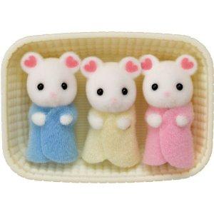 Calico Critters Marshmallow 三胞胎