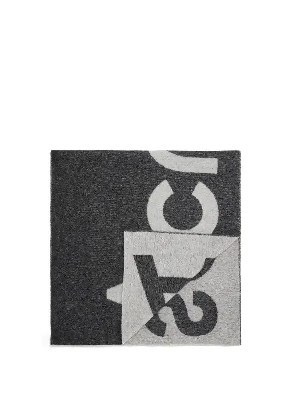 双面大logo围巾