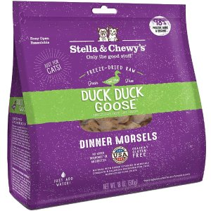 Stella & Chewy'sDuck Duck Goose Dinner Morsels Freeze-Dried Raw Cat Food, 18-oz bag - Chewy.com