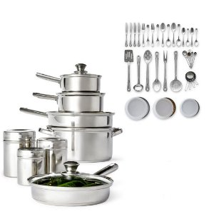 50.99Cooks 52-PC. Stainless Steel Cookware Set