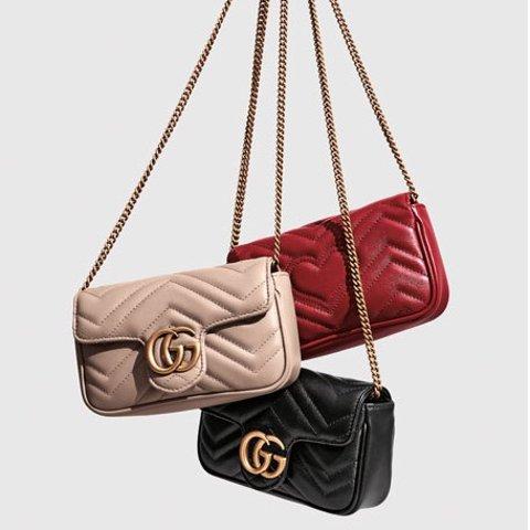 新色Marmont仅$900+ 免邮Gucci Mini包专场 酒神、Marmont爆款补货 包包越小越时髦