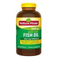 Nature Made 鱼油 Omega-3 1000mg 320粒装 防打嗝款