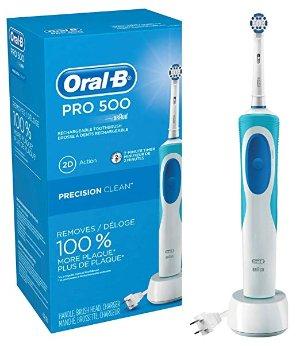 $21.33(原价$43.99) 4星半好评Oral-B Pro 500 电动牙刷 自动定时提醒
