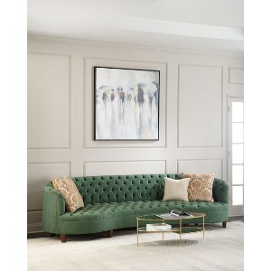 Haute HouseVaughn Tufted Velvet Sofa 126