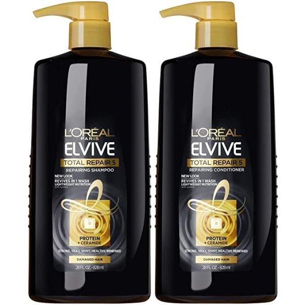 黑金修复洗发水+护发素 28oz/瓶
