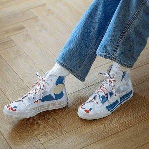 全线7折 Chuck70蓝白色£84Converse x TELFAR 联名帆布鞋、服饰好价 复古时尚前沿