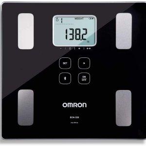 低至$67 宅家了解健身成果Omron 智能蓝牙体脂体重秤 6种身体指标 无限读数存储