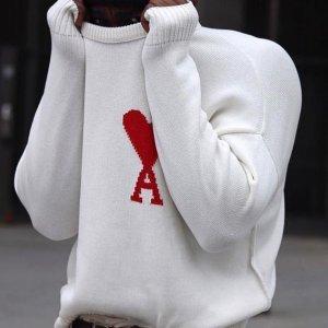 新品9折 €117收logo海魂衫Ami 新款热促 法国超火品牌 速收张艺兴、杨幂等明星同款美衣