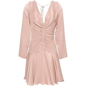 ZimmermannOpen-back粉色丝绸露背裙