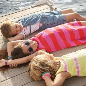 4.8折 扎染小吊带$12Gap 小童背心 夏日清凉舒适 $9收Tiffany蓝印花款 纯有机棉