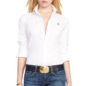 页面显示已是折后价Polo Ralph Lauren Kendall Fitted Shirt, White