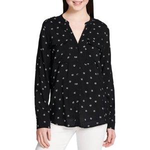 Floral Roll-Sleeve Utility Shirt - Walmart.com