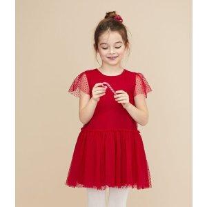 Petit Bateau码全红色连衣裙