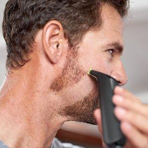 现价£49.99(原价£74.99)飞利浦 OneBlade PRO QP6510 混合剃须修剪器
