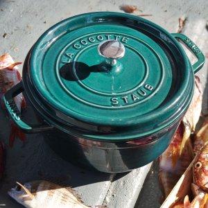 Staub 4夸脱圆形带盖珐琅铸铁锅 六色可选