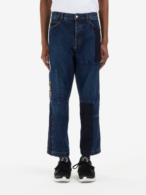 MCQ ALEXANDER MCQUEEN Patchwork Recycled Cropped Jeans