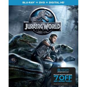Starting at $5Jurassic World / Park Blueray / DVD Movies + Atom Tickets Offer