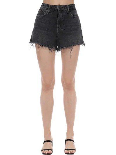 显瘦牛仔短裤