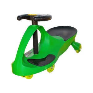 Grass Green Deluxe Voice-Recorder LED Swing Car Ride-On