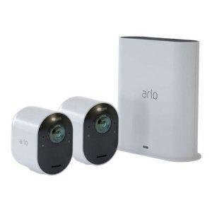 $775(原价$1049)Arlo Ultra 4K 无线监控 2摄像头套装